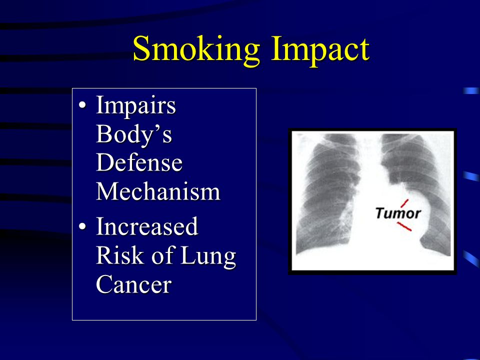 Smoking Impact Impairs Body's Defense Mechanism