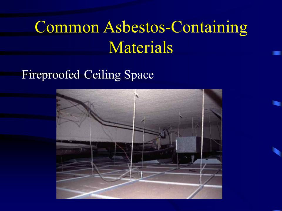 Common Asbestos-Containing Materials