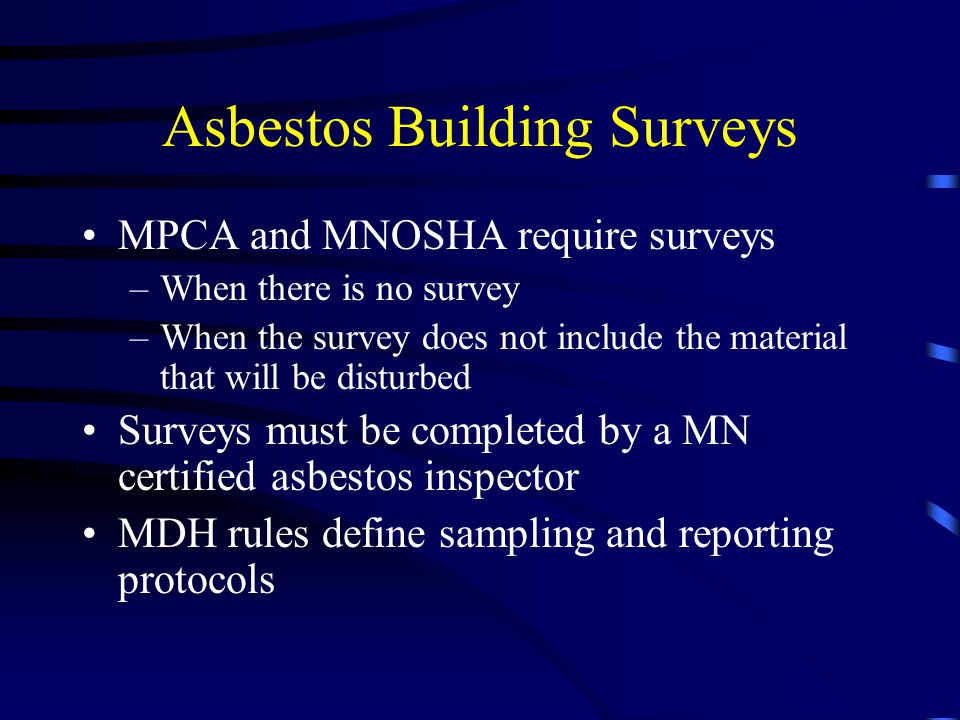 Asbestos Building Surveys