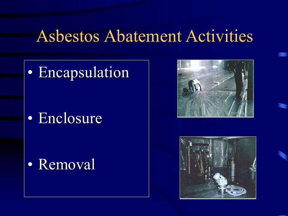 Asbestos Abatement Activities