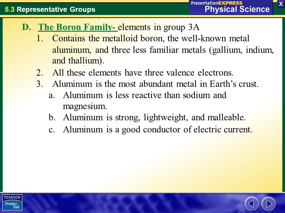 The Boron Family- elements in group 3A