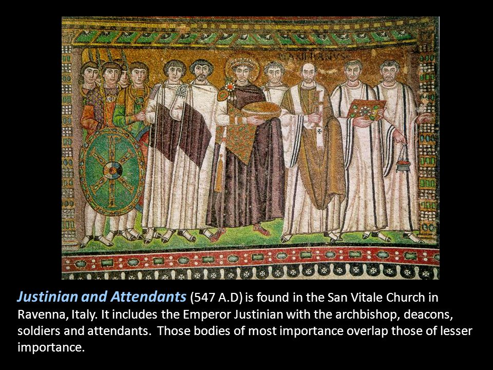 Justinian and Attendants (547 A