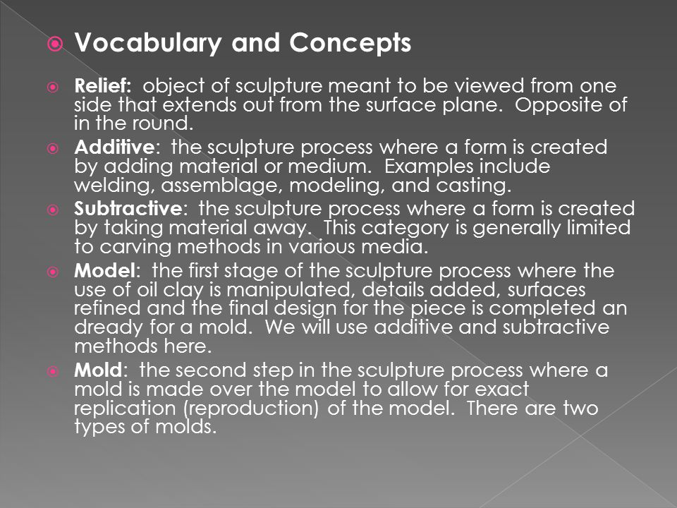Vocabulary and Concepts