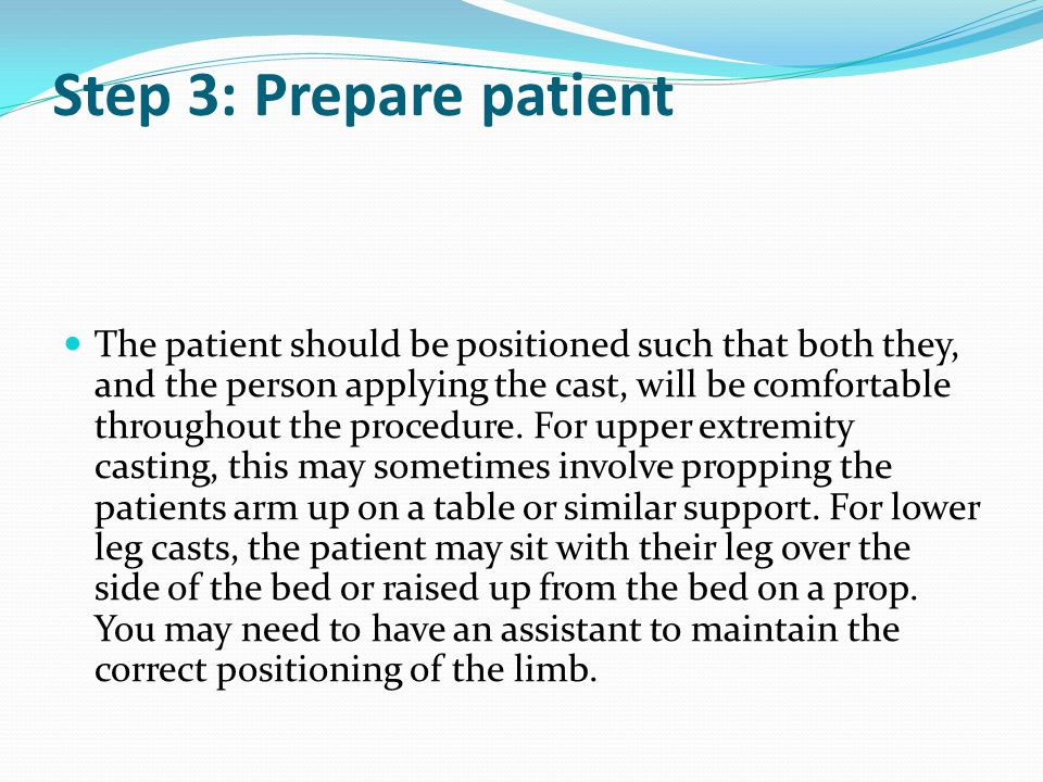 Step 3: Prepare patient