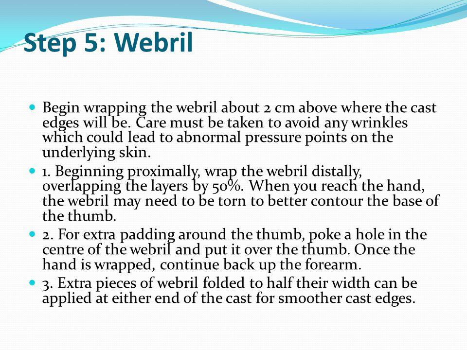 Step 5: Webril