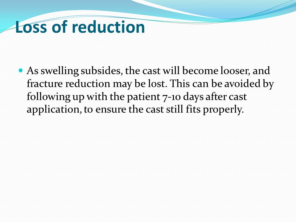 Loss of reduction