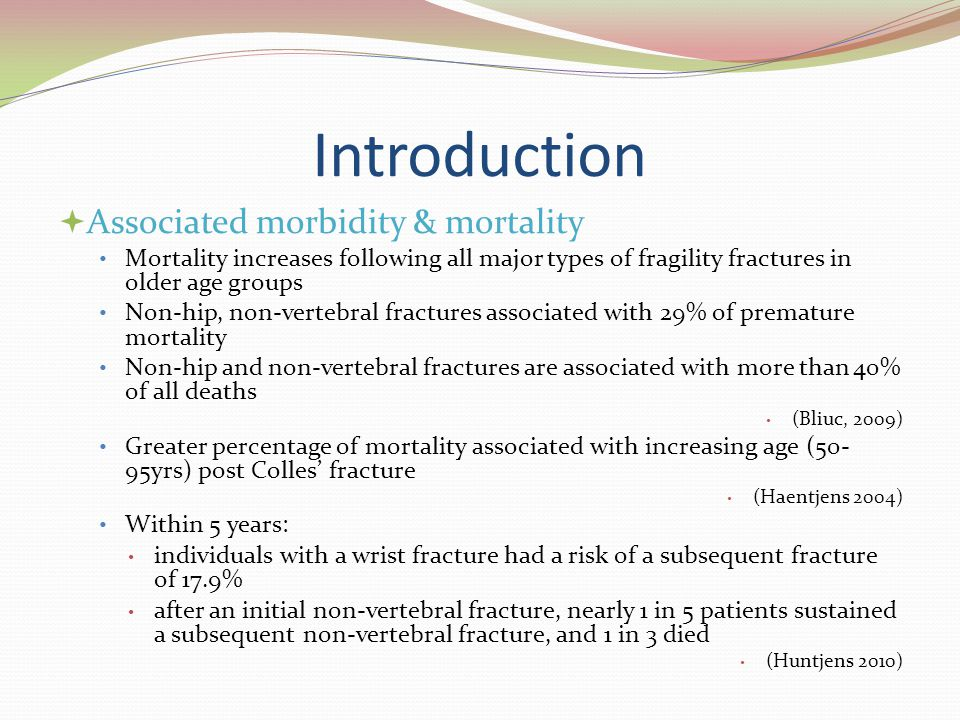Introduction Associated morbidity & mortality