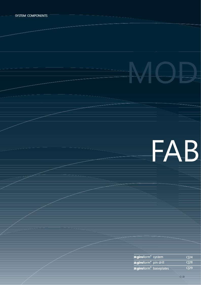 MODE FABRICATIO giroform system C|24 C|28 giroform pin drill C|29