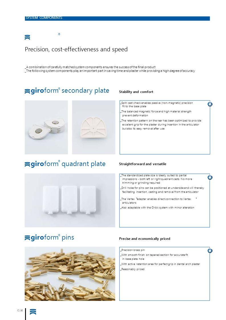giroform secondary plate