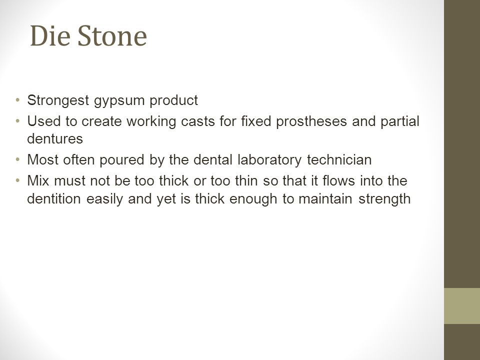 Die Stone Strongest gypsum product