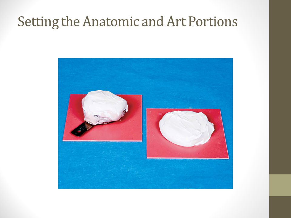 Setting the Anatomic and Art Portions