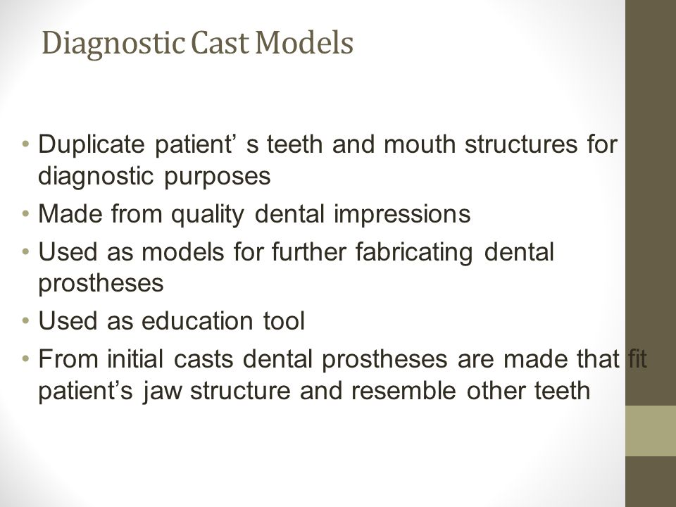 Diagnostic Cast Models