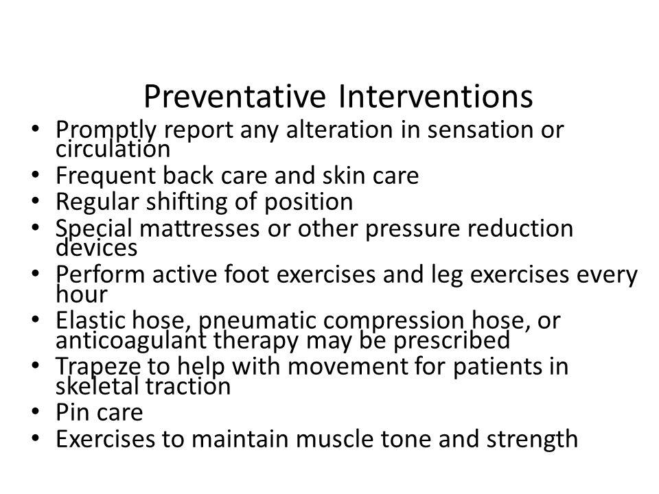 Preventative Interventions