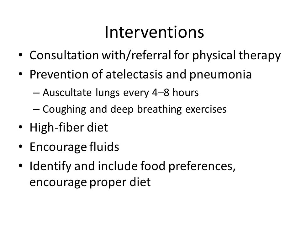 Interventions Consultation with/referral for physical therapy