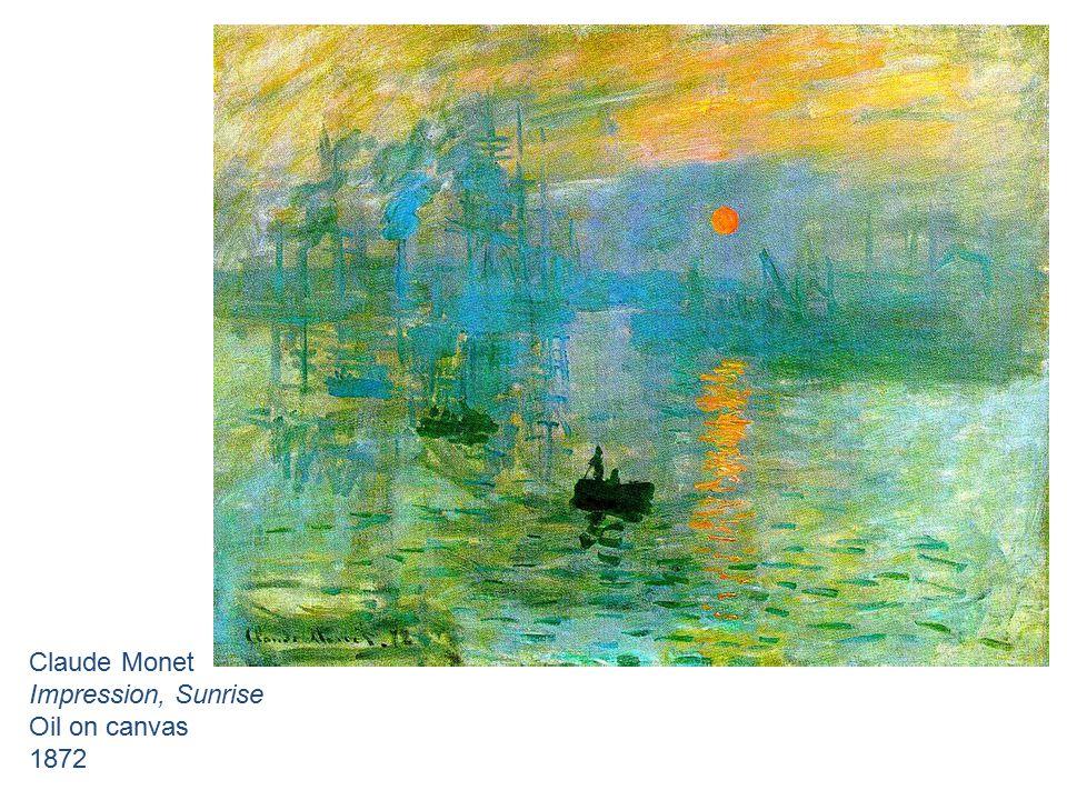 Claude Monet Impression, Sunrise Oil on canvas 1872