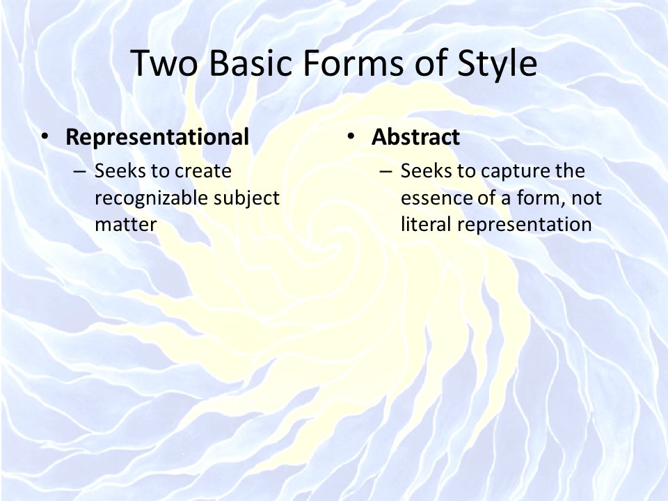 Two Basic Forms of Style