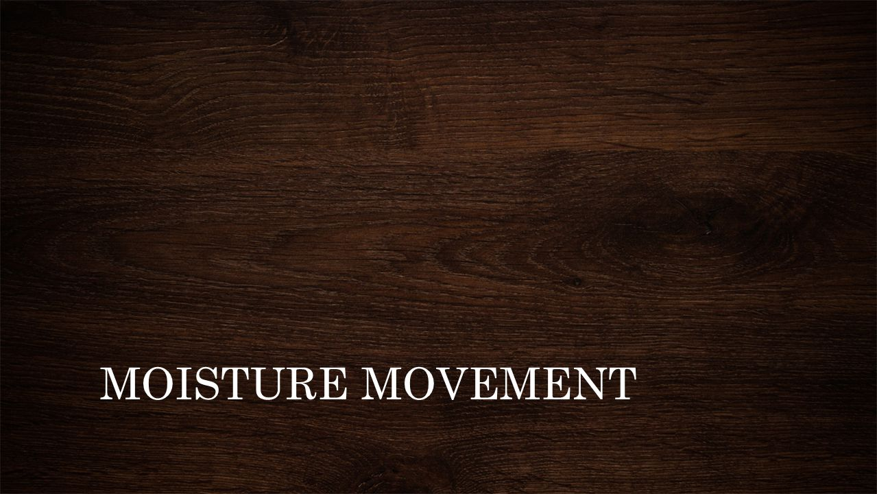 MOISTURE MOVEMENT