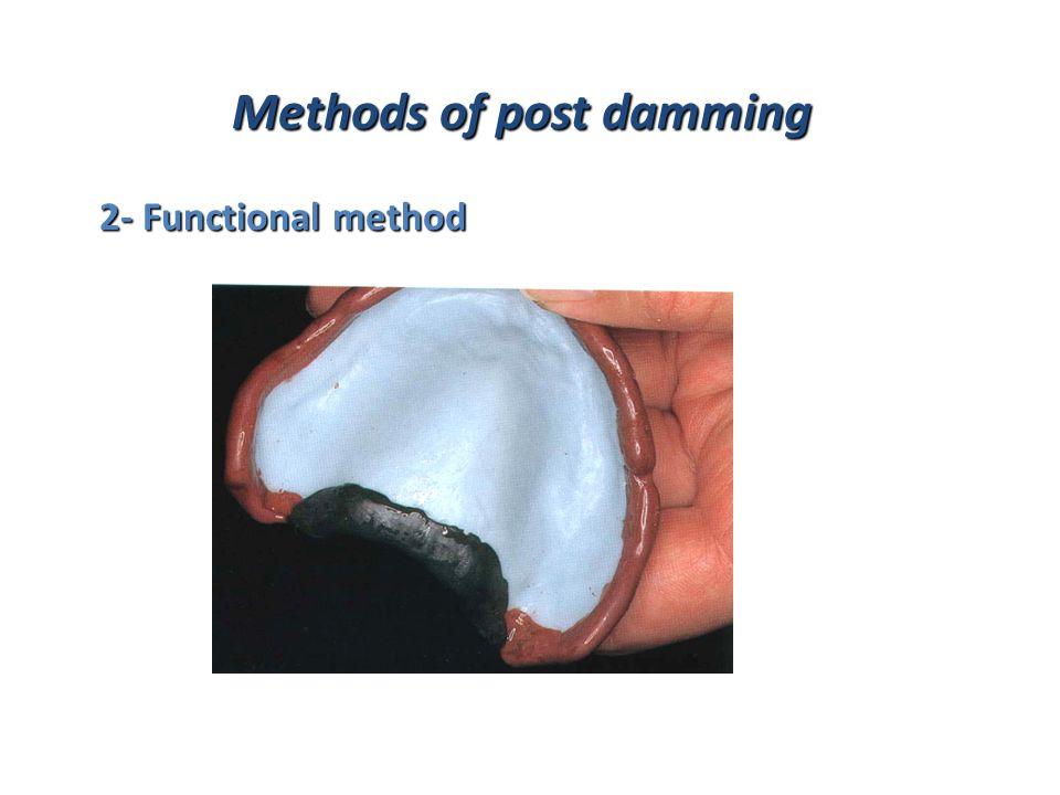 Methods of post damming