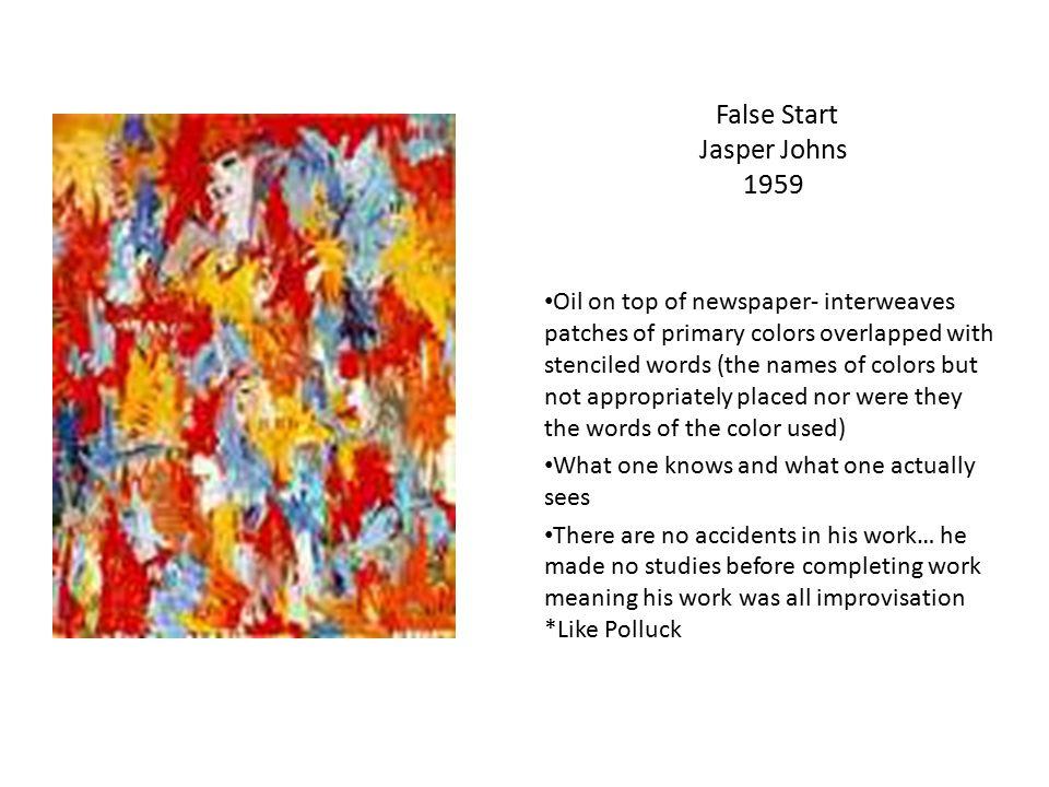False Start Jasper Johns 1959