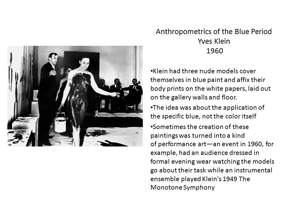 Anthropometrics of the Blue Period Yves Klein 1960