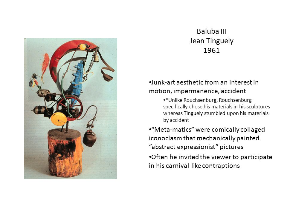Baluba III Jean Tinguely 1961