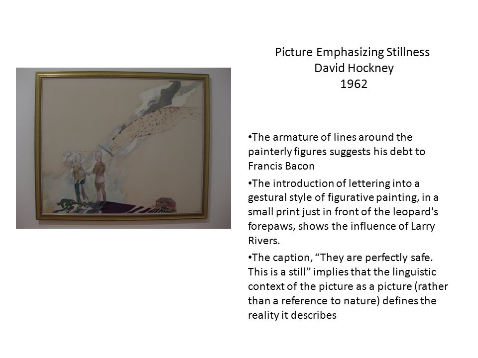 Picture Emphasizing Stillness David Hockney 1962