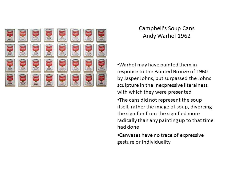 Campbell s Soup Cans Andy Warhol 1962