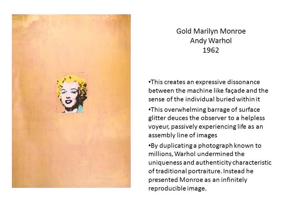Gold Marilyn Monroe Andy Warhol 1962
