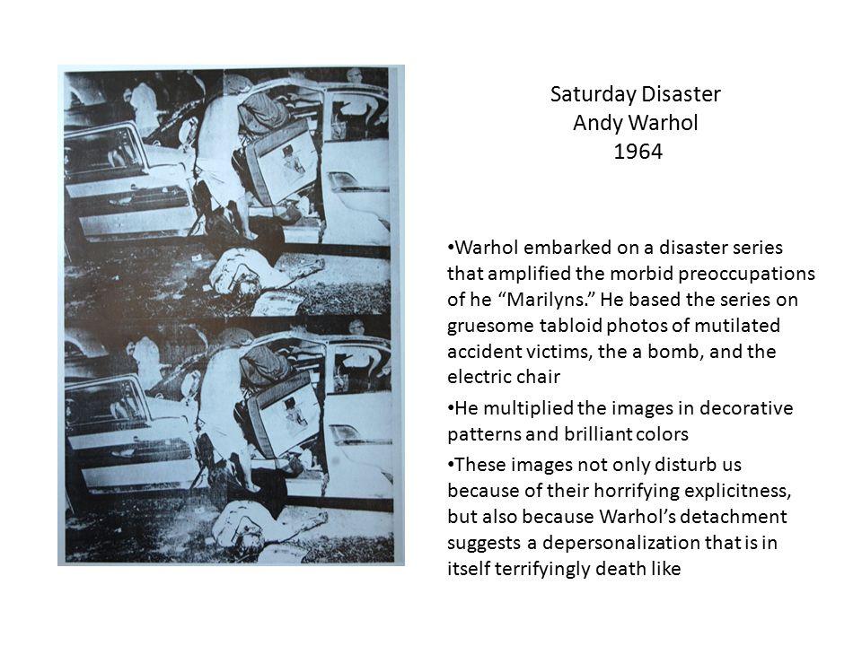 Saturday Disaster Andy Warhol 1964