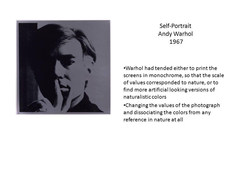 Self-Portrait Andy Warhol 1967