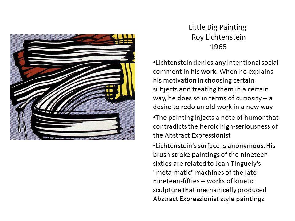 Little Big Painting Roy Lichtenstein 1965