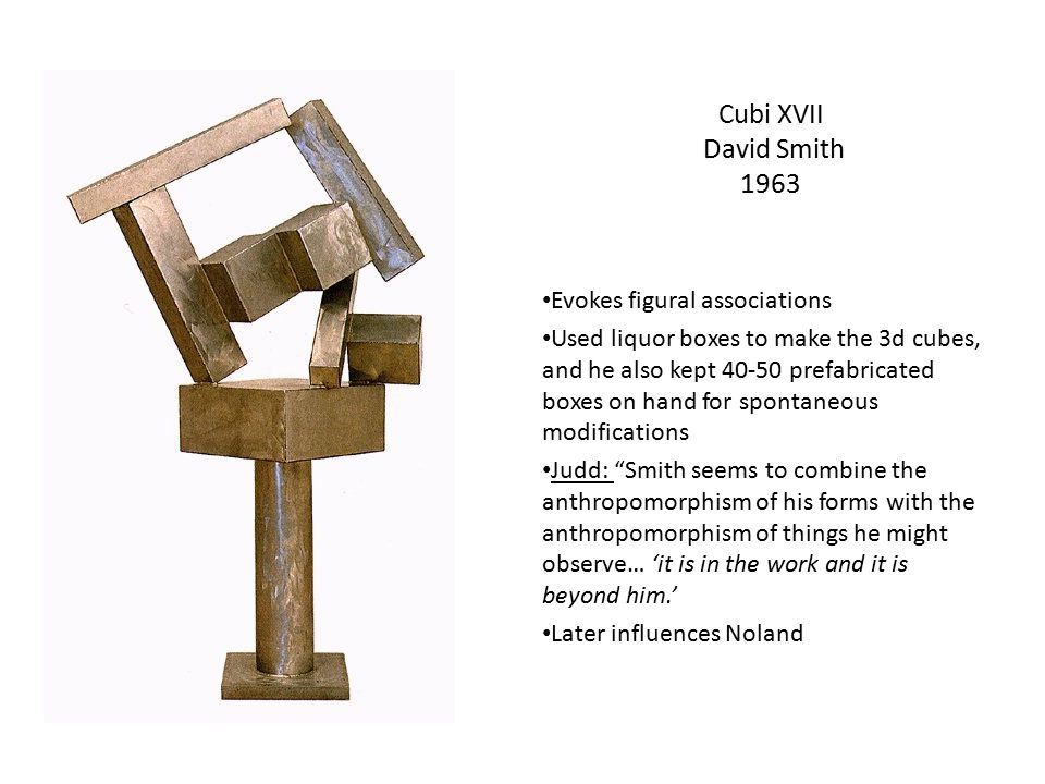 Cubi XVII David Smith 1963 Evokes figural associations