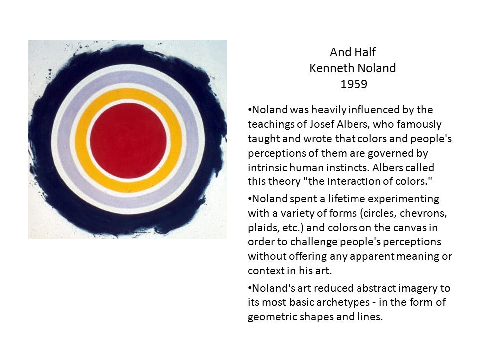 And Half Kenneth Noland 1959