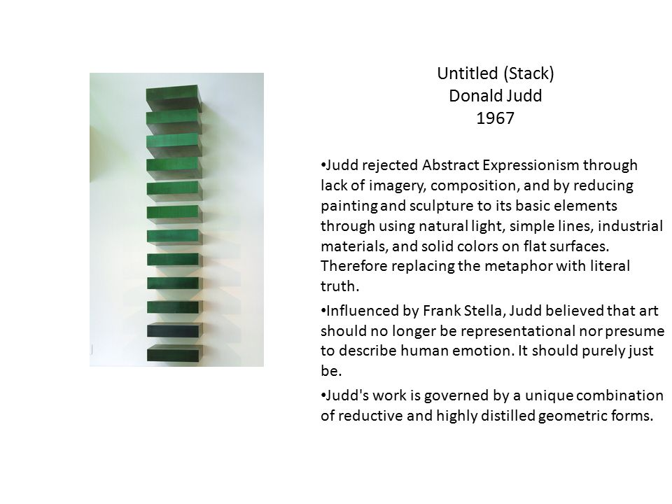 Untitled (Stack) Donald Judd 1967