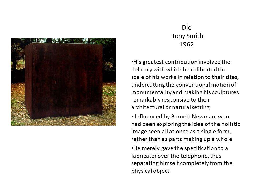 Die Tony Smith 1962