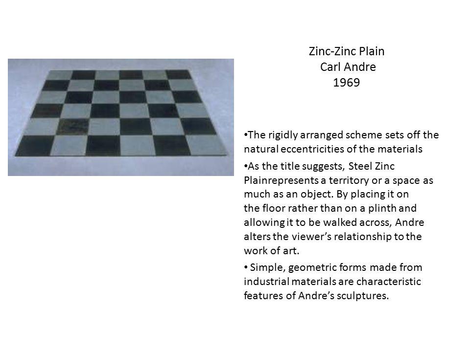 Zinc-Zinc Plain Carl Andre 1969