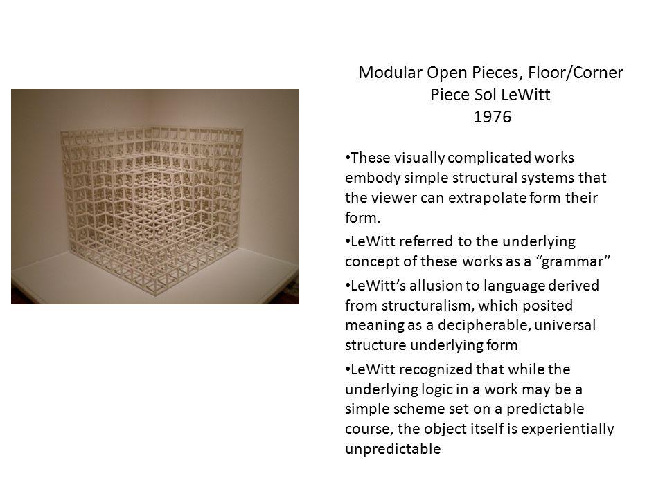Modular Open Pieces, Floor/Corner Piece Sol LeWitt 1976