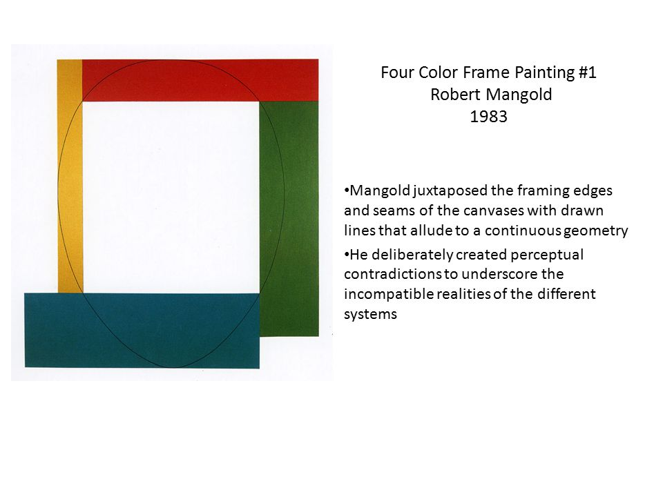 Four Color Frame Painting #1 Robert Mangold 1983