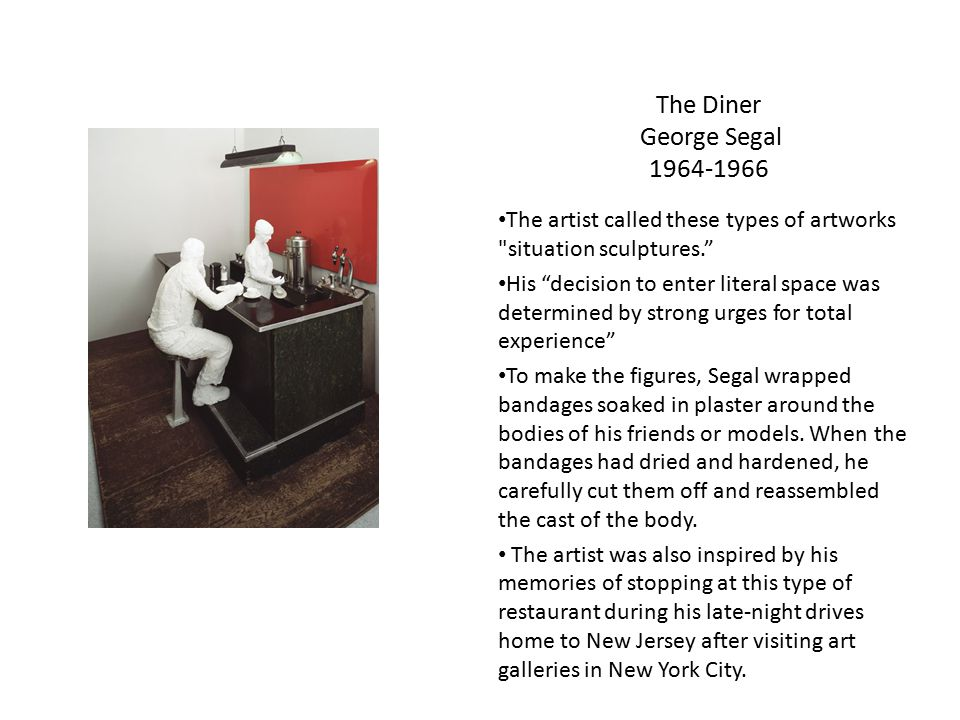The Diner George Segal 1964-1966
