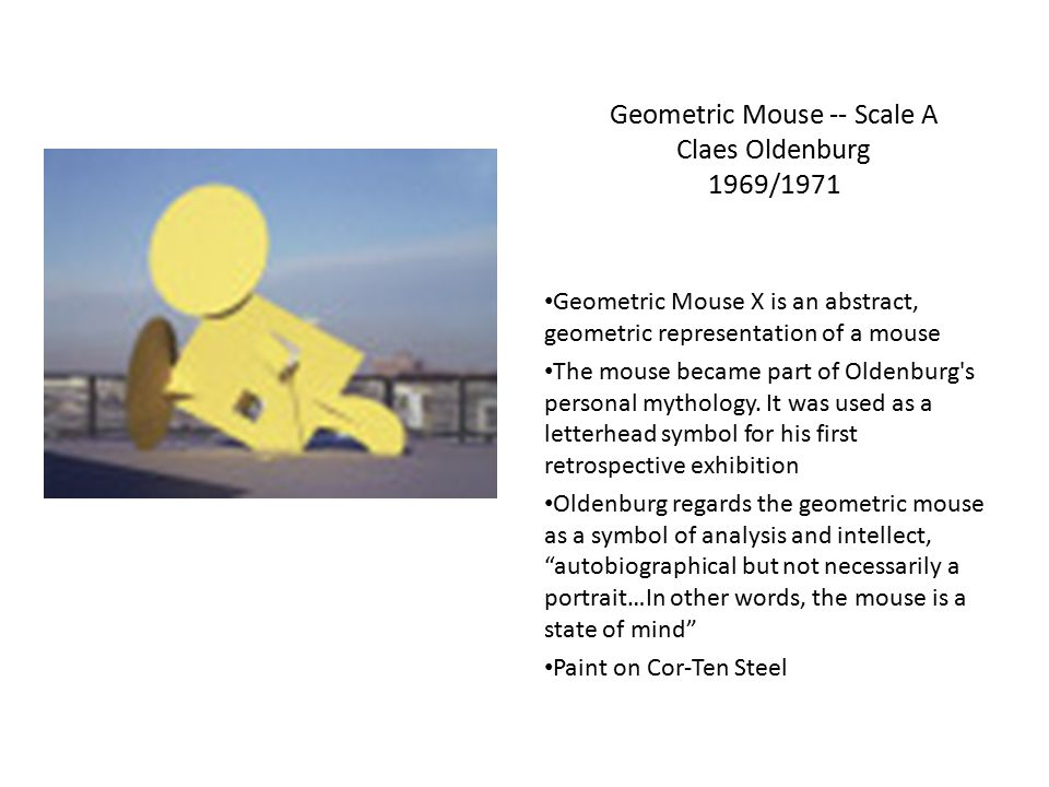 Geometric Mouse -- Scale A Claes Oldenburg 1969/1971