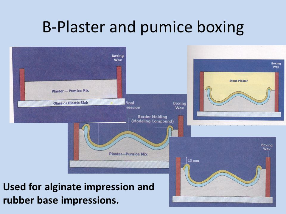 B-Plaster and pumice boxing