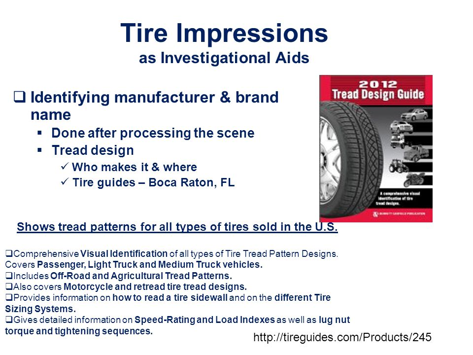 Tire Impressions as Investigational Aids