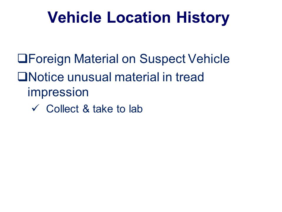 Vehicle Location History