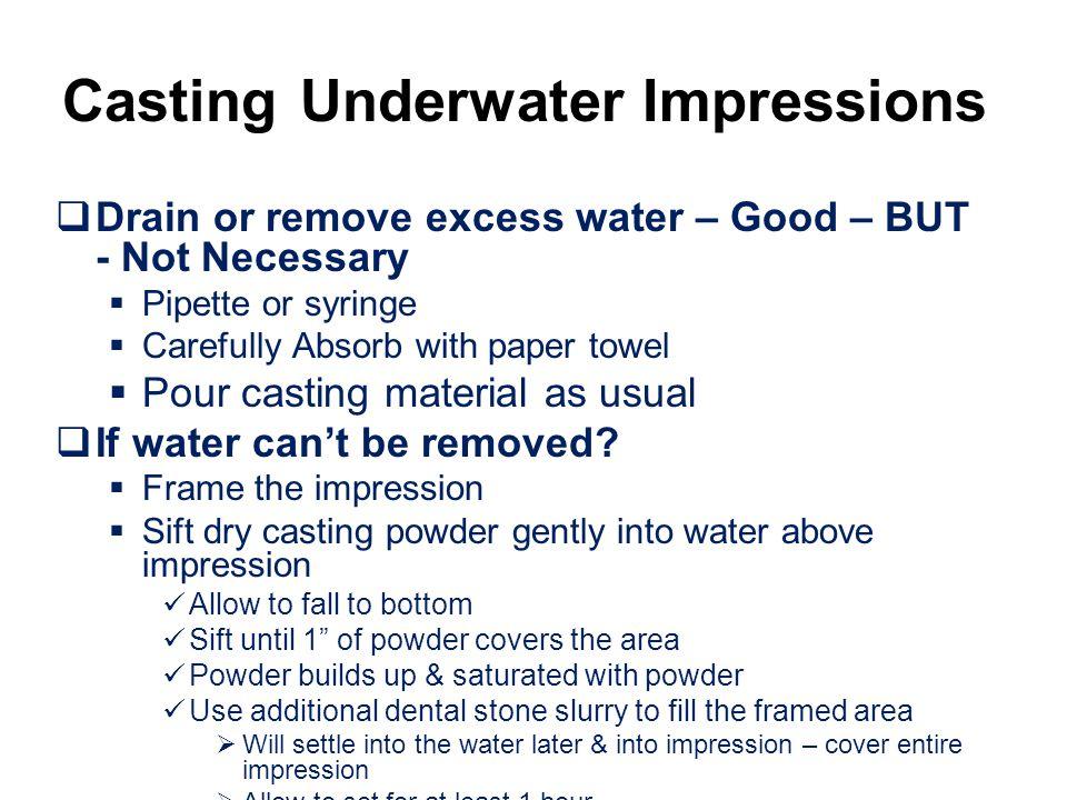 Casting Underwater Impressions