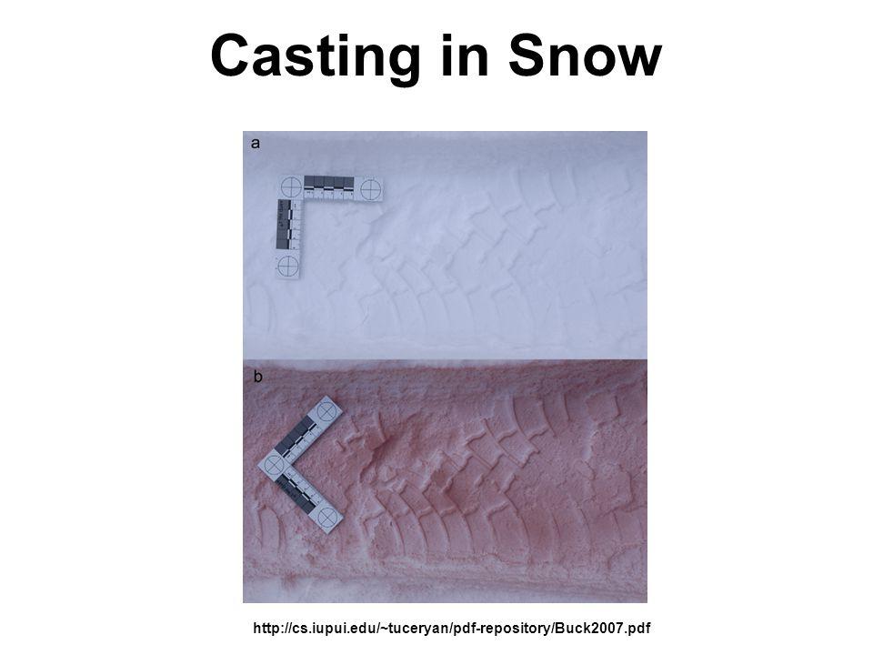 Casting in Snow http://cs.iupui.edu/~tuceryan/pdf-repository/Buck2007.pdf