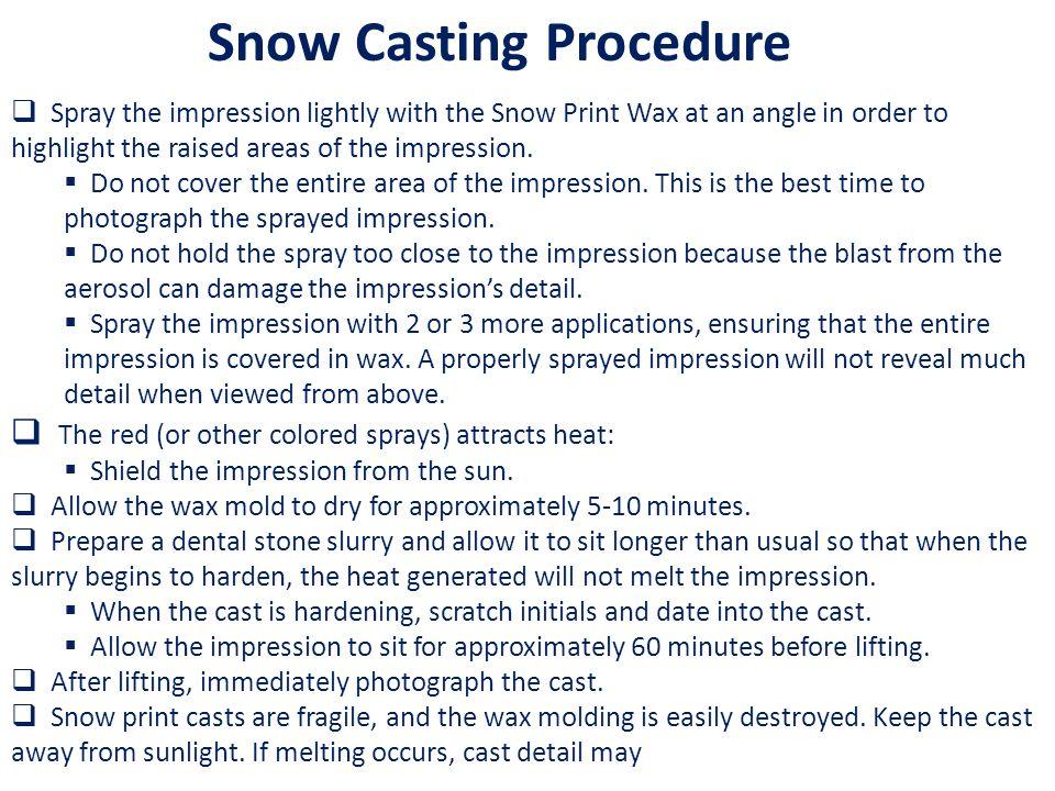 Snow Casting Procedure