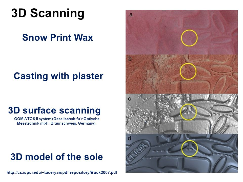 3D Scanning Snow Print Wax Casting with plaster 3D surface scanning