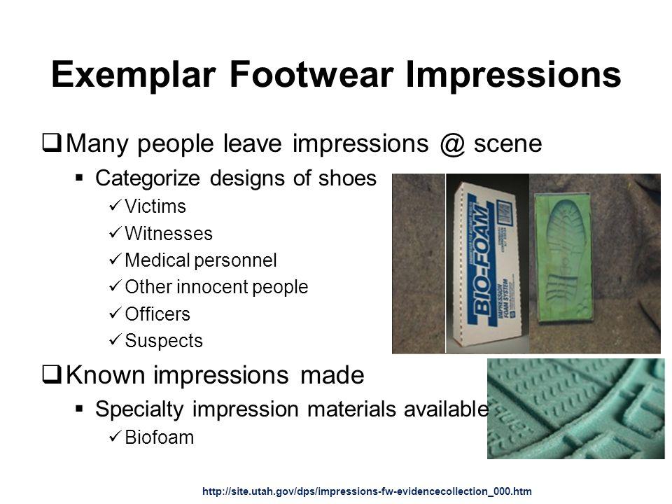 Exemplar Footwear Impressions
