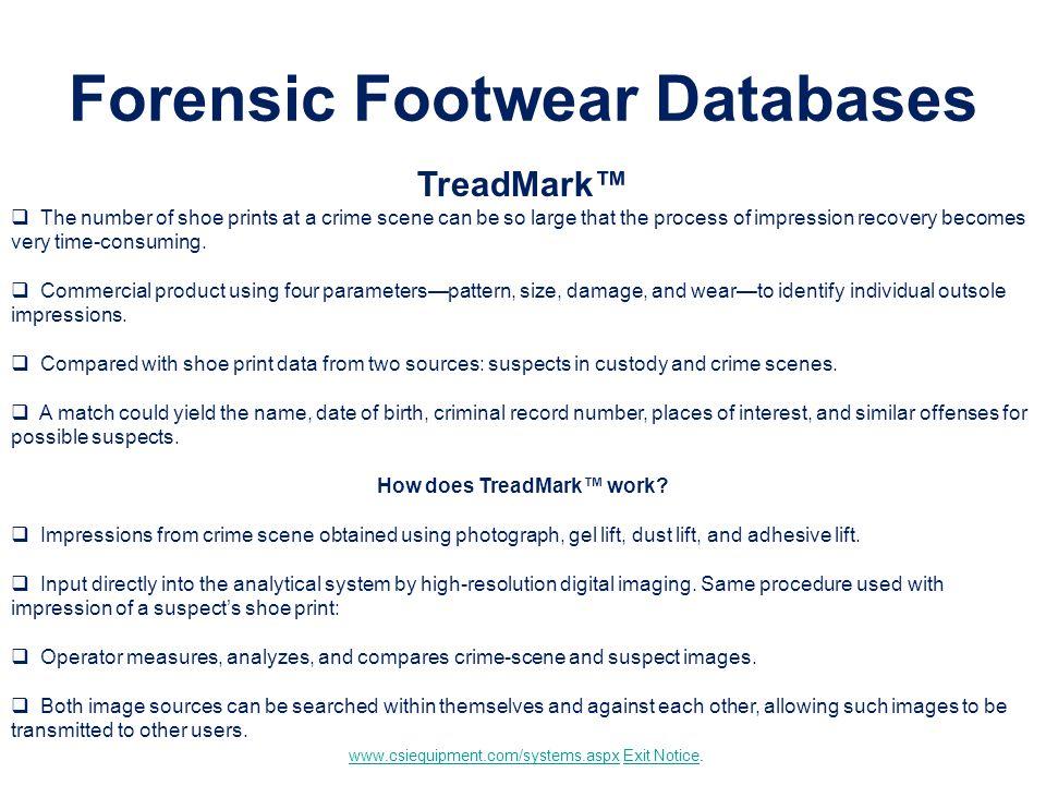 Forensic Footwear Databases