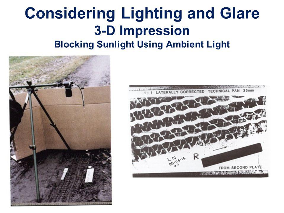 Considering Lighting and Glare 3-D Impression Blocking Sunlight Using Ambient Light
